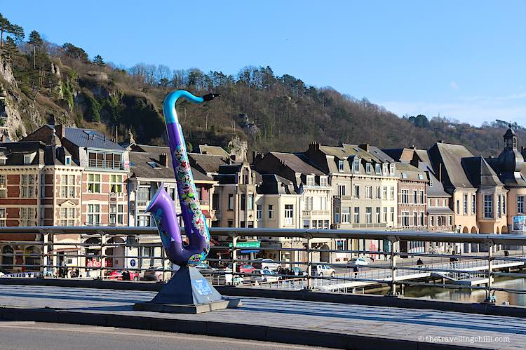 saxophone charles de gaulle bridge Dinant Belgium