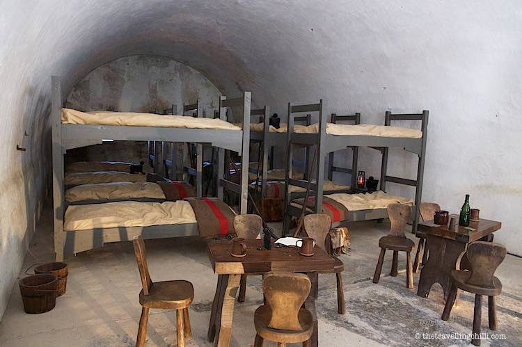 Replica of a dorm room in the citadel dinant