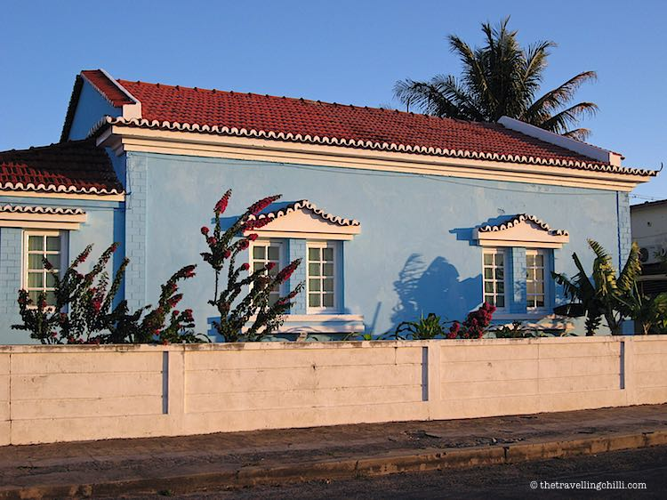 Colourful houses Mozambique