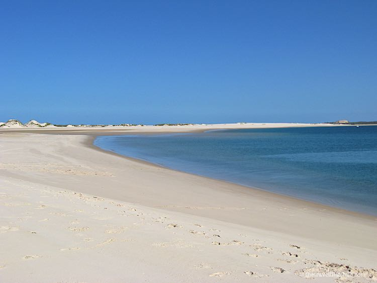 Endless white beaches Bazaruto Archipelago Mozambique