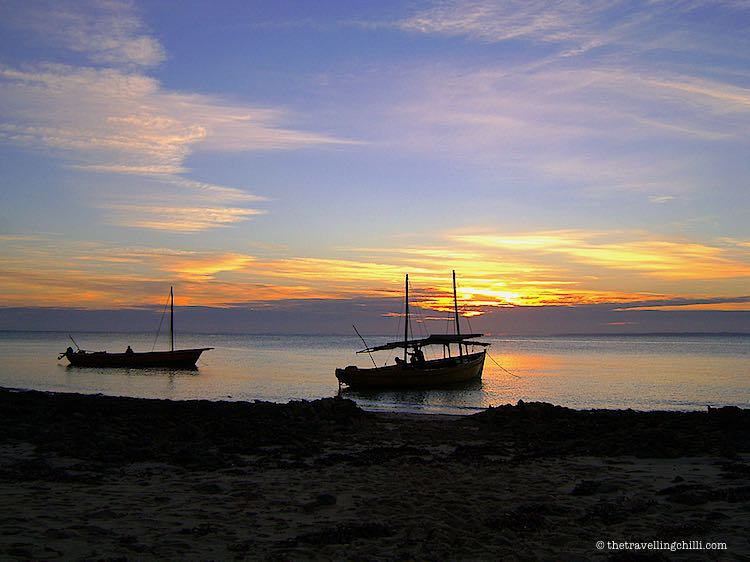Dhow in the sunrise Mozambique