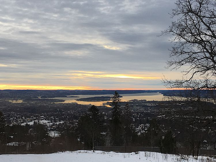 Panoramic view over Oslo and the Oslofjord