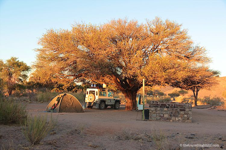 Spacious campsite at Canyon Roadhouse by the Fish River Canyon in Namibia
