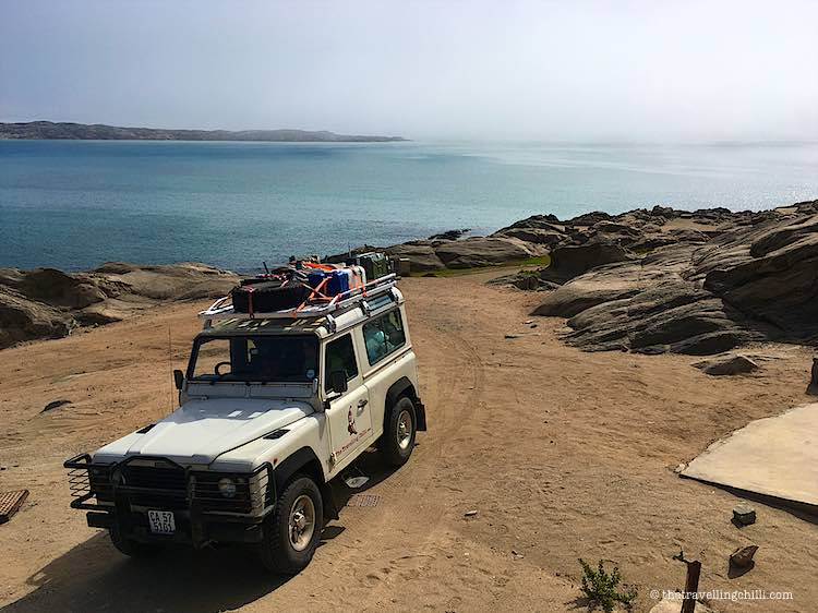 Camping by the sea on Shark Island in Luderitz Namibia