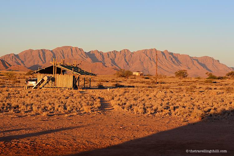 Sossus Oasis Campsite Namibia has private bathroom and kitchen with amazing views in the Namib desert