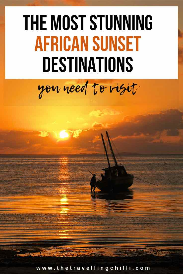 The most stunning African Sunset destinations you need to visit | Watching the sunset over the Indian ocean in Mozambique