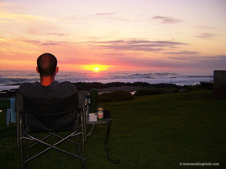 Watching the African sunset in Tsitsikamma national Park in South Africa