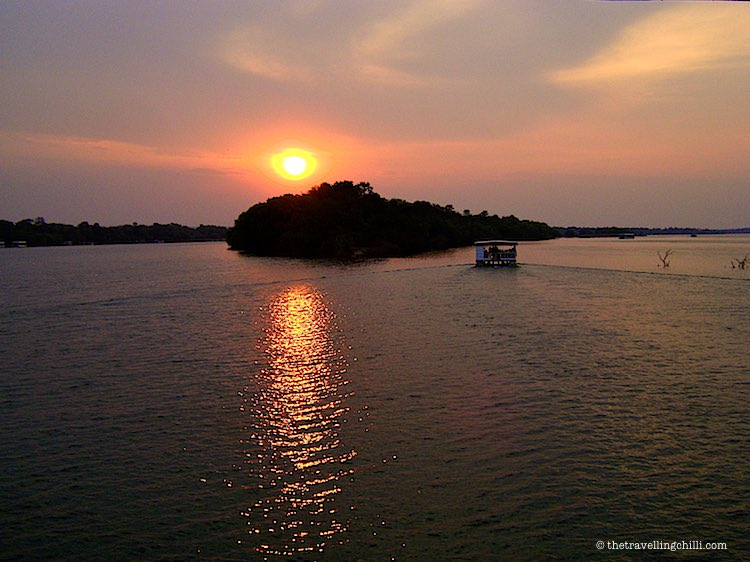 Sunset boat cruise on the Zambeze river in Zimbabwe and Zambia
