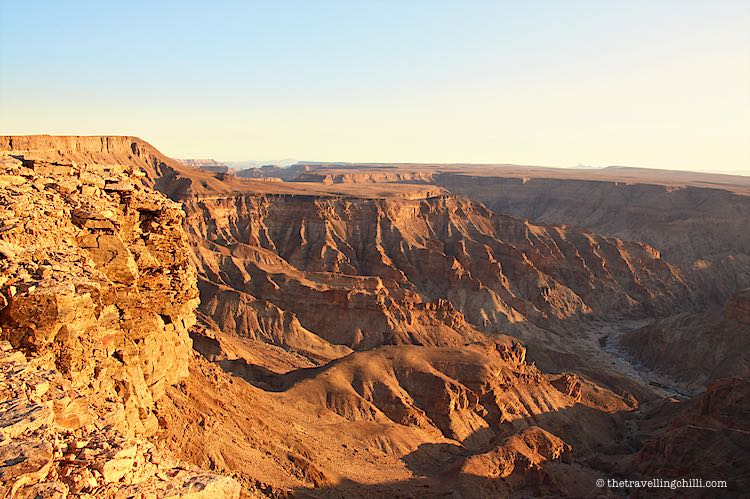 Landscape view of the Fish River Canyon in Namibia