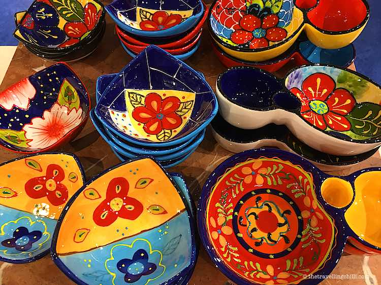 Colourful bowl of Spanish ceramics