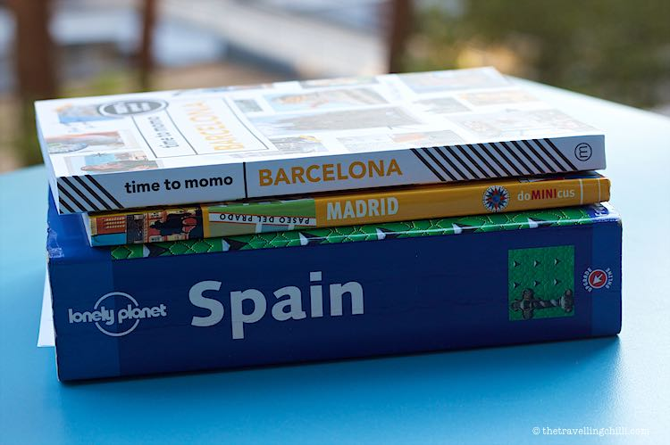 Spanish guide books or Travel books about Spain Madrid and Barcelona