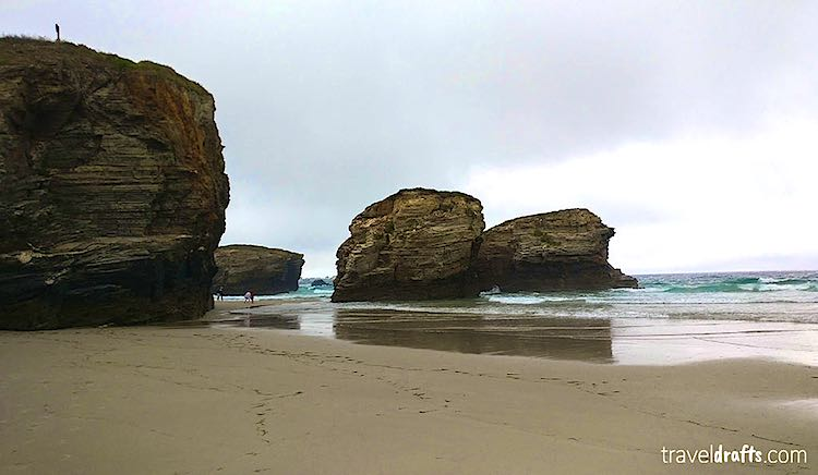 Playa de las Catedrales Cathedrals beach Galacia Spain