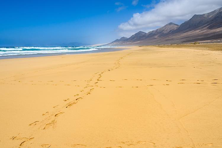 Playa de Cofete beach Fuerteventura Canary Islands Spain