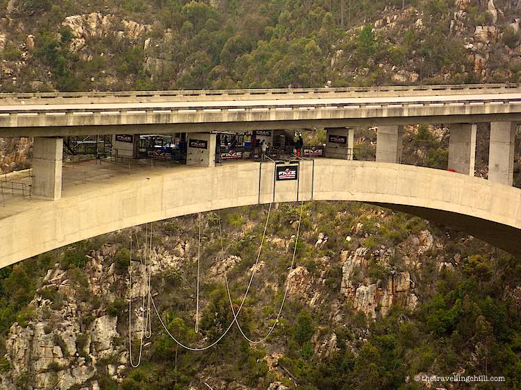 Worlds highest bungee jump Bloukrans Bridge Garden Route South Africa