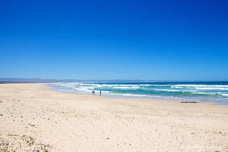 White Beach in Jeffrey's Bay Garden Route South Africa