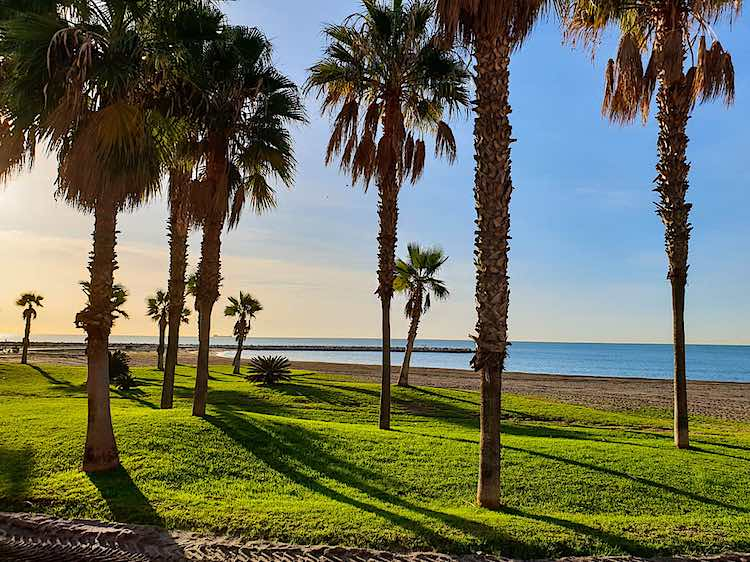 Playa de Malaga beach in Spain