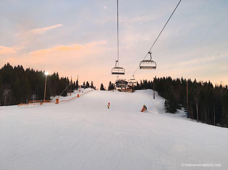 groomed ski piste oslo winterpark norway