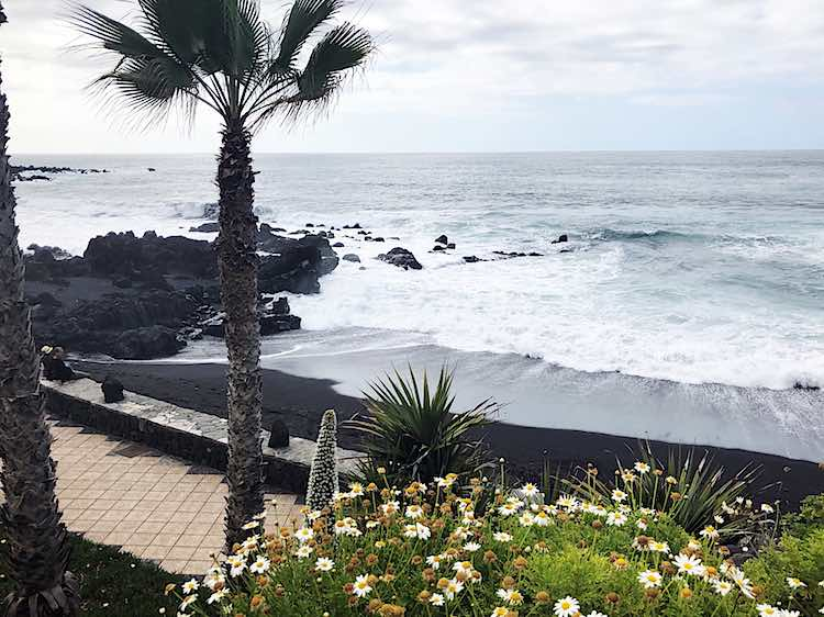 Playa del Castillo Tenerife Spain black sand beach