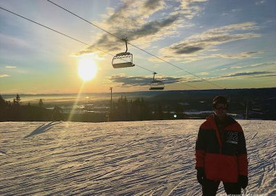 Sunset Oslo winterpark