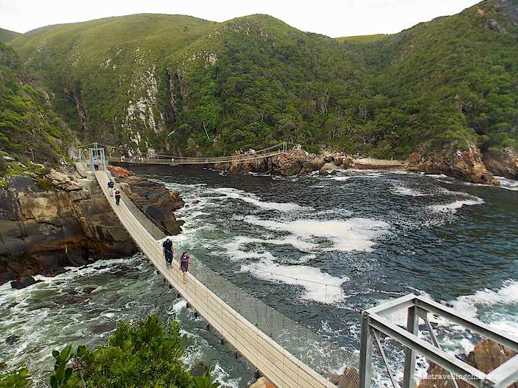 Suspension bridge Storms River Tsitsikamma South Africa