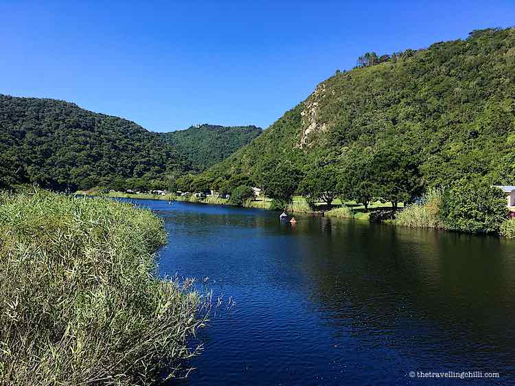 Kayaking Touw river ebb flow Wilderness Garden Route South Africa