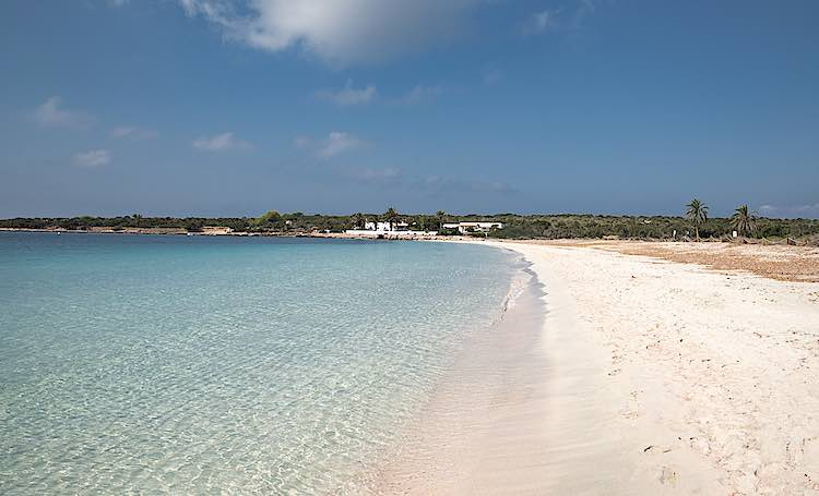 Beach Espalmador Island Formentera Canary Islands