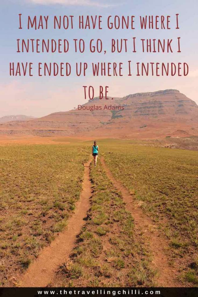 I may not have gone where I intended to go but I think I have ended up where I intended to be | Douglas Adams | Road Trip Quotes | Road Trip Captions | Travel quotes