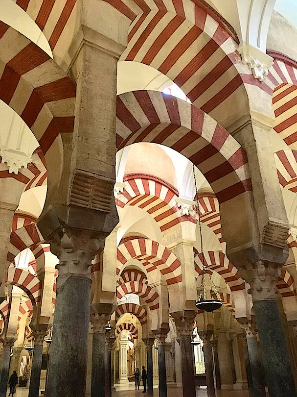 Inside view of the Mezquita in Cordoba or the Mosque in Cordoba