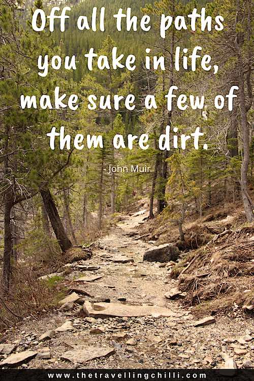 Off all the paths you take in life, make sure a few of them are dirt   camping quotes
