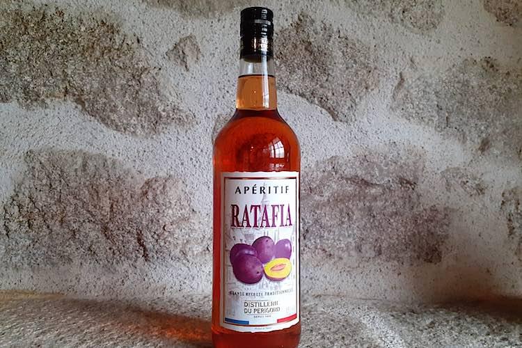 Bottle of Ratafia standing
