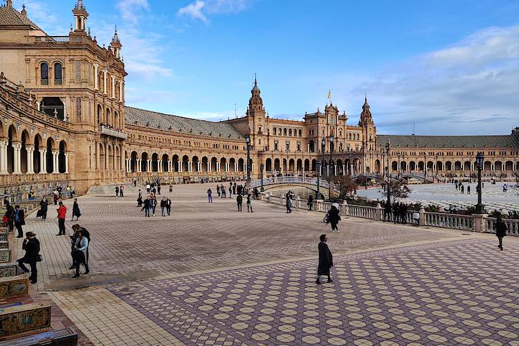 Plaza de Espana in Sevilla is a Spain landmark