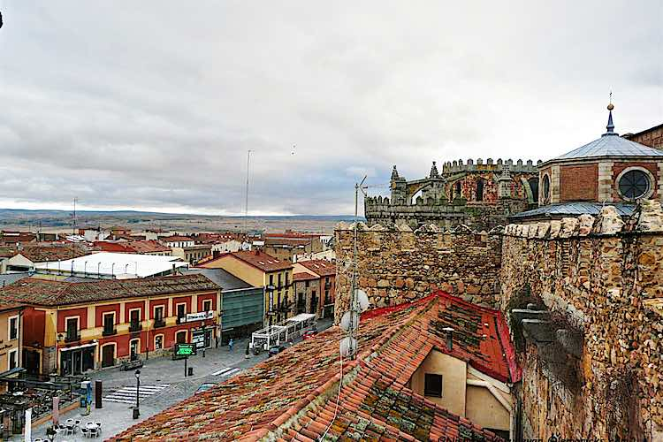 View from the walls of Avila near Madrid in Spain