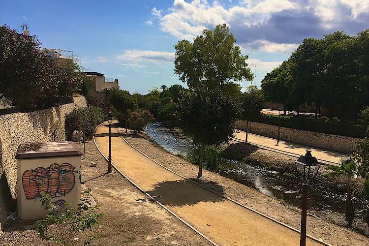Amadorio riverbed walkway in Villajoyosa