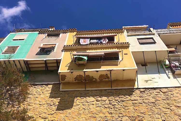 Hanging houses of Villajoyosa