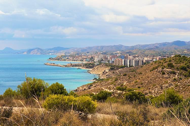 View of Villajoyosa from Raco del Conill
