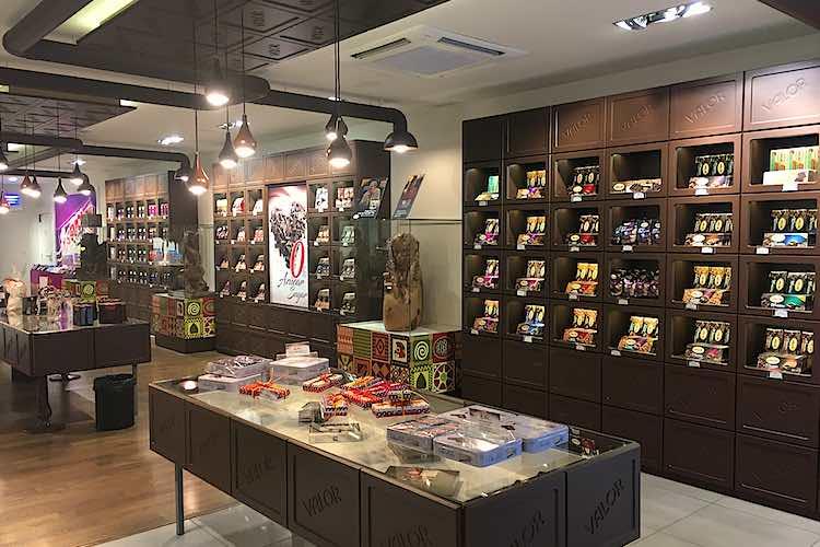 Shop in museum Valor Chocolates in Villajoyosa
