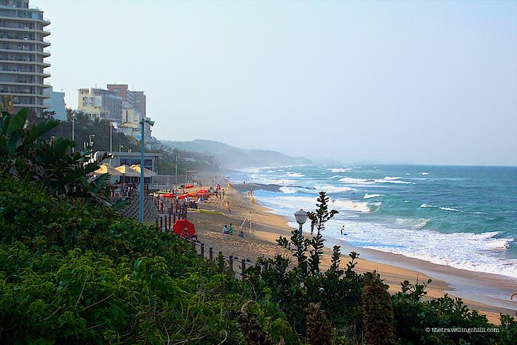 View of Umhlanga beach front close to Durban north
