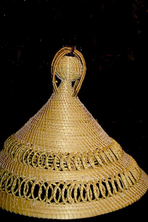basotho hat made out of reed