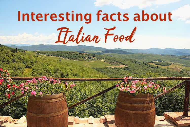 Interesting facts about italian food | fun Italian food facts with a view of the vineyards in tuscany