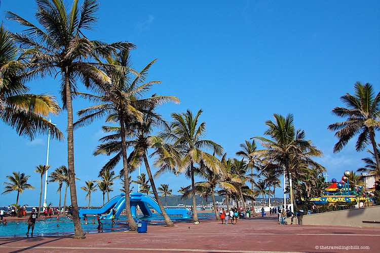Public swimming pools on the Golden Mile in Durban in South Africa
