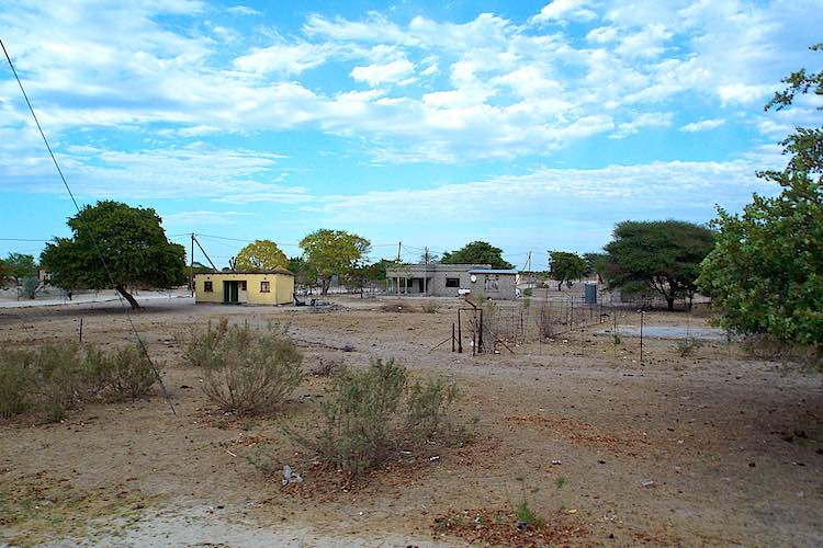Typical village in Botswana with two stone houses